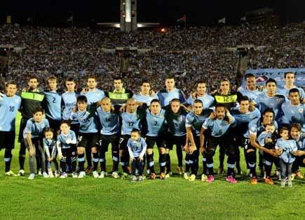 Uruguay seal final qualifying spot for 2014 World Cup