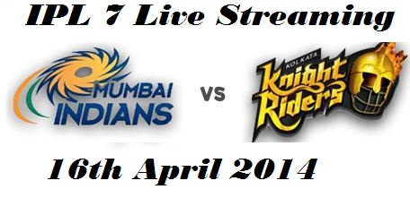IPL-7 MATCH-1 Mumbai Indian (MI) VS Kolkata Night RIDERS