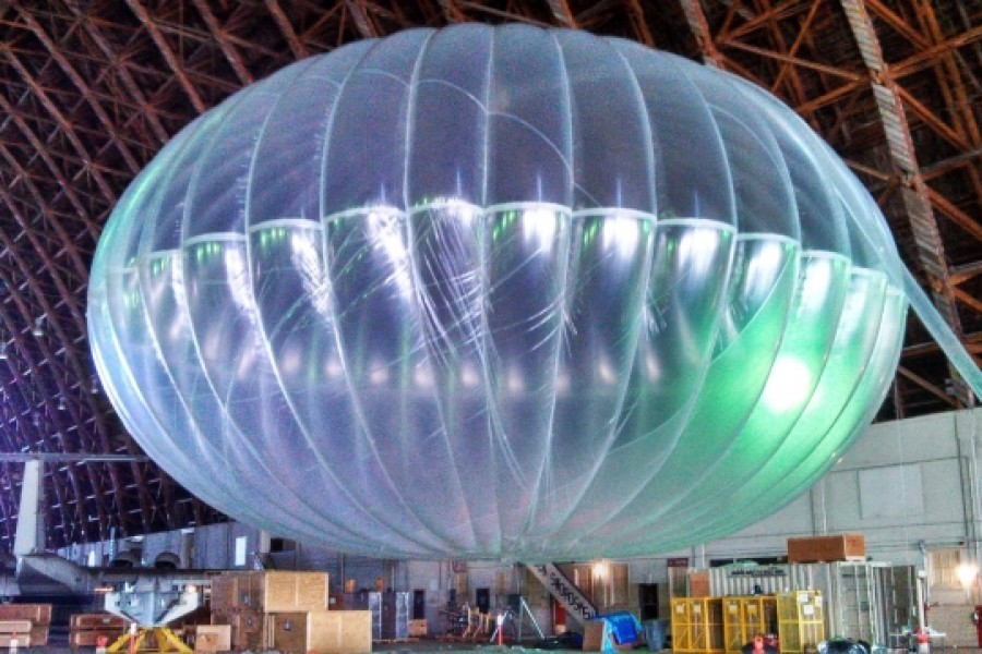 Googles Loon Balloons around the world in 22 days