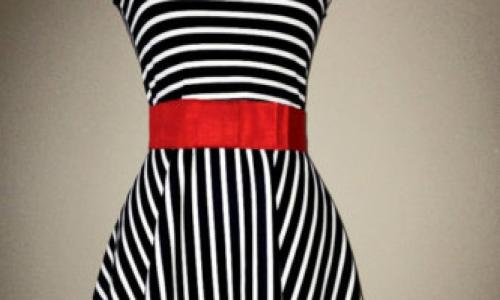 Dark stripes can make you look slim
