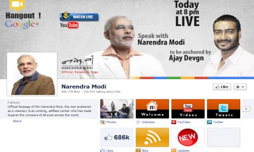 Modi's Facebook page fastest growing for any elected leader